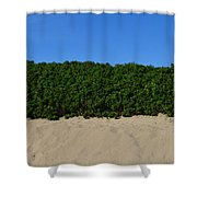 Tri-color At The Beach Shower Curtain