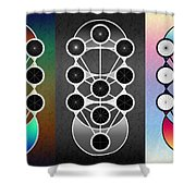 Tri-kabalah Chart Shower Curtain
