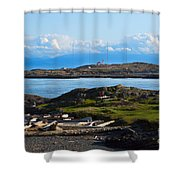 Trial Island And The Strait Of Juan De Fuca Shower Curtain