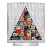 Triangle Crystals Showcasing Navinjoshi Gallery Art Icons Buy Faa Products Or Download For Self Prin Shower Curtain