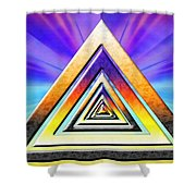 Triangle Pathway Shower Curtain