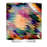 Triangles And Parallelograms Shower Curtain