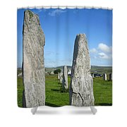 Triangular Callanish Stone Shower Curtain