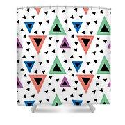 Triangular Dance Repeat Print Shower Curtain