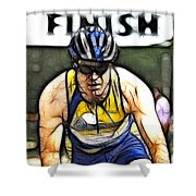 Triathalon Competitor Shower Curtain