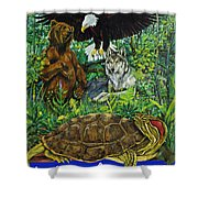 Tribal Gathering Shower Curtain