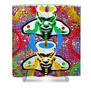 Tribal Soup Shower Curtain