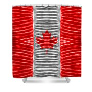 Triband Flags - Canada Shower Curtain