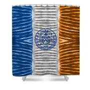 Triband Flags - New York City Shower Curtain