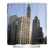 Tribune Tower Chicago Shower Curtain
