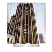 Tribune Tower Facade Shower Curtain
