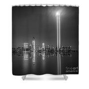 Tribute In Light Reflection Shower Curtain