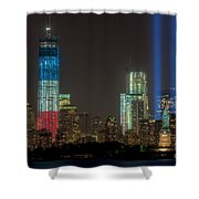 Tribute In Light Xiii Shower Curtain by Clarence Holmes