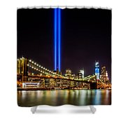 Tribute Lights From Brooklyn Shower Curtain