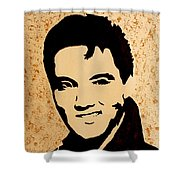 Tribute To Elvis Presley Shower Curtain