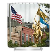 New Orleans Tribute To Joan Of Arc Shower Curtain