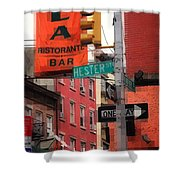 Tribute To Little Italy - Hester And Mulberry Sts - N Y Shower Curtain
