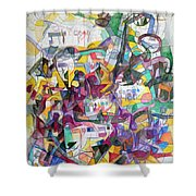 Tribute To Rebbe Shimon Shower Curtain