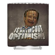 Tribute To Robin Williams Typography Shower Curtain