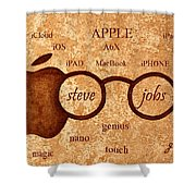 Tribute To Steve Jobs 2 Digital Art Shower Curtain