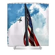 Tribute To The Day America Stood Still Shower Curtain by Rene Triay Photography