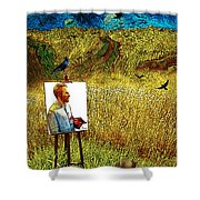 Tribute To Vincent Van Gogh - His Final Days Shower Curtain