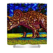 Triceratops Painting Shower Curtain