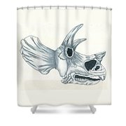 Tricerotops Skull Shower Curtain