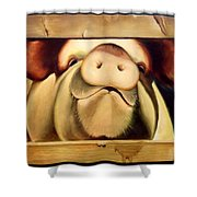Tricia The Pig Shower Curtain