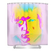 The Blue-eyed Joker Looks At Me, He Seems So Nice  Shower Curtain