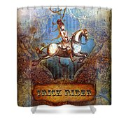 Trick Rider Shower Curtain