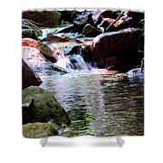 Trickle Down The Mountain Shower Curtain