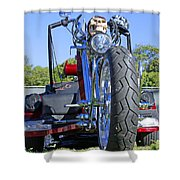 Tricycle Of Death Shower Curtain