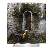 Tricycle Parked In Alleyway Shower Curtain