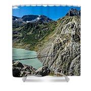 Triftsee Suspension Bridge - Gadmen - Switzerland Shower Curtain