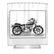 Trimuph In Black And White Shower Curtain
