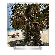 Trincomalee Palms Shower Curtain