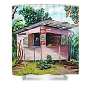 Trini Roti Shop Shower Curtain