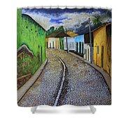 Trinidad Cuba Original Oil Painting 16x12in Shower Curtain