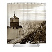 Trinidad Head Light Humboldt County California 1910 Shower Curtain