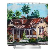 Trinidad House  No 1 Shower Curtain