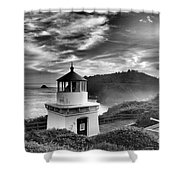 Trinidad Light In Black And White Shower Curtain by Adam Jewell