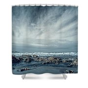 Trinidad State Beach In Infrared Shower Curtain