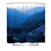 Trinity #2 Enhanced In Blue Shower Curtain