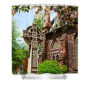 Trinity Church Garden  7d02024 Shower Curtain