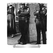 Trio Of Arm Crossers San Francisco California 1972 Shower Curtain
