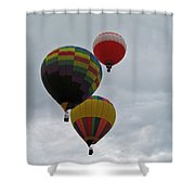 Trio Of Balloons 2 Shower Curtain