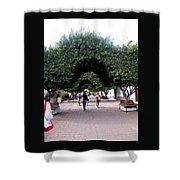 Triple Arches Shower Curtain