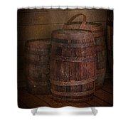Triple Barrels Shower Curtain by Susan Candelario
