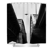 Triple Bridges Shower Curtain